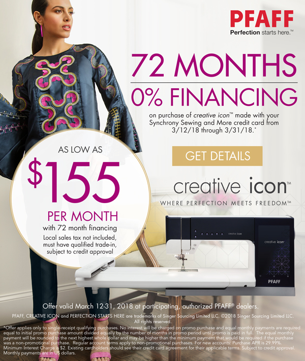 March 2018 - Financing on creative icon