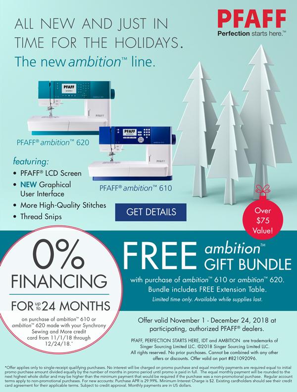 November 2018 - Ambition Line Holiday 0% Financing